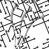 иллюстрация печатной платы — Cтоковый вектор