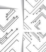 Illustrazione di circuito stampato — Vettoriale Stock