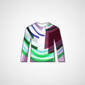 Abstrakta illustrationen på tröja — Stockvektor