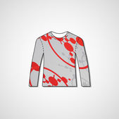 Abstract illustration auf pullover — Stockvektor