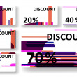 Abstract discount cards — Vector de stock #34499623