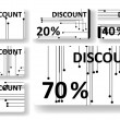 Circuit board discount cards — Stock Vector