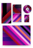 Stationery set for your design — Stock Vector