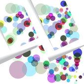 Abstract circles illustration — Stockvektor