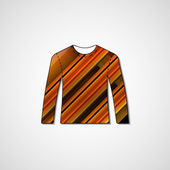Abstract illustration on sweater — Vecteur