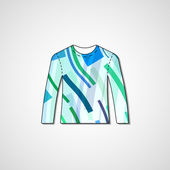 Abstract illustration on sweater — Stockvector