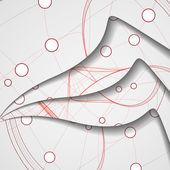 Ilustracja obwodu drukowanego — Wektor stockowy