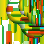 Abstract colorful illustration — Vector de stock