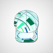 Abstract illustration on peaked cap — Stock Vector