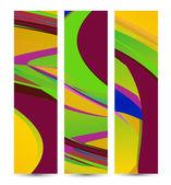 Retro soyut banner tasarımınız için — Stok Vektör