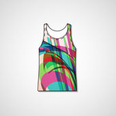 Abstract illustration on singlet — Stock Vector