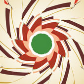 Abstract illustration, colored twirl — Vettoriale Stock