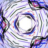 Abstracte illustratie, gekleurde kronkel — Stockvector