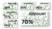 Dna discount cards — 图库矢量图片