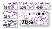 Dna discount cards — Vector de stock