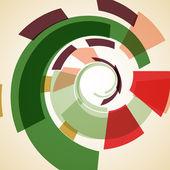 Ilustração abstrata, plano de fundo colorido — Vetor de Stock