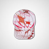 Abstract illustration on peaked cap — Cтоковый вектор