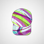 Abstract illustration on peaked cap — Vecteur