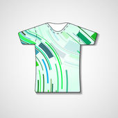 Abstract illustration on t-shirt — Vecteur