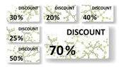 Dna discount cards — Vetorial Stock