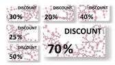 Dna discount cards — Stockvector