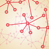 Molecule background, colorful illustration — Stock Vector