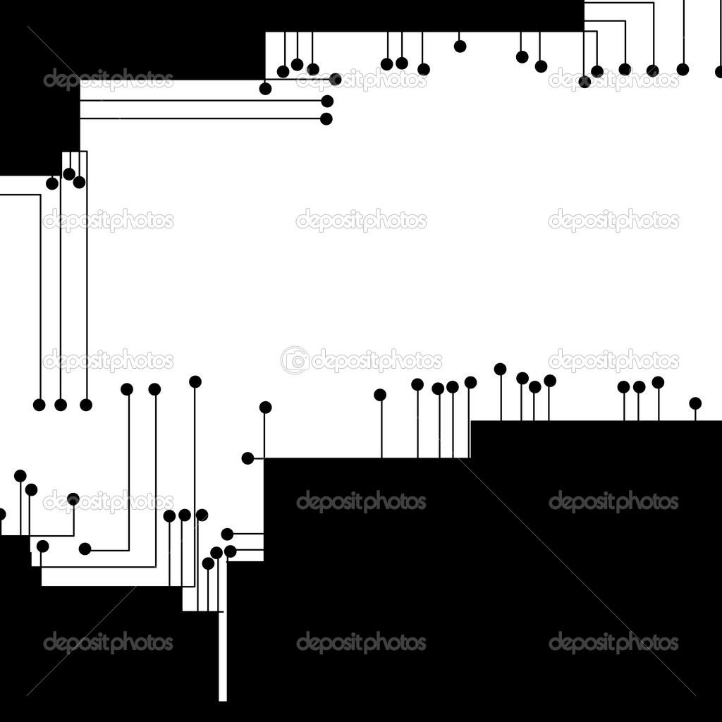 电路板的背景下,现代的数码插图– 图库插图