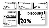 Circuit board discount cards — Stock Vector