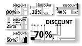 Obvodové desky slevové karty — Stock vektor