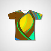 Abstract illustration on t-shirt — Stock Vector