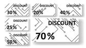 Circuit board discount cards — Vettoriale Stock
