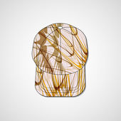 Abstract illustration on peaked cap — Stockvektor