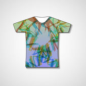 Abstract illustration on t-shirt — Stockvektor