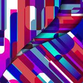 Ilustración de la forma abstracta geométrica — Vector de stock