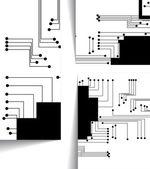 电路板图 — 图库矢量图片
