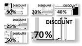 Tarjetas de descuento de la tarjeta de circuitos — Vector de stock
