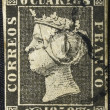 Royalty-Free Stock Photo: First postage stamp printed in Spain. circa 1850