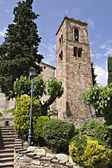 Bell tower of Sant Pere de Vilamajor, Spain — Stock Photo