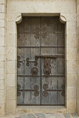 Romanesque doorway — 图库照片