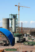 Construction of cement factory — Stock Photo