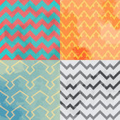 Zigzag pattern vector. Multicolored zigzag types with textures. — Stock Vector