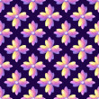 Medieval purple watercolor ornament of flowers. Bright color seamless pattern. Plum background. — Stock Photo #42374397