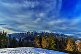 Bucegi Mountain Panoramic view — Stock Photo