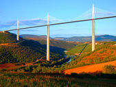 Millau bridge in France — Stock Photo