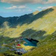 Balea lake in Fagaras mountains — Stock Photo