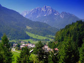 Beautiful mountains near Kranjska Gora,Slovenia,Europe — Stock Photo