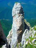 Torre di roccia in piatra craiului montagne — Foto Stock