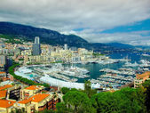 Monte Carlo panorama,Monaco — Stock Photo