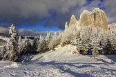 Panorama de roca solitaria, rumania — Foto de Stock