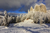 Panorama do rock solitário, roménia — Foto Stock
